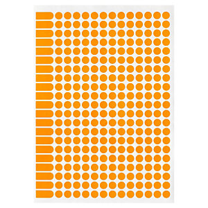 pastille de couleur adh sif permanent en planche a5 rajapack. Black Bedroom Furniture Sets. Home Design Ideas
