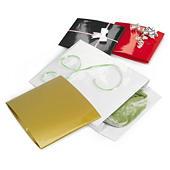 Pochette cadeau papier pelliculé couleur à rabat