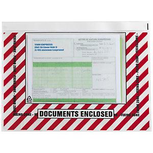Pochette porte-documents adhésives imprimée avec fermeture repositionnable