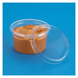 Petit pot plastique PP et couvercle plastique PS