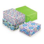 Flerfärgat presentpapper