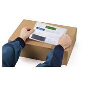 Printed biodegradable document enclosed envelope labels