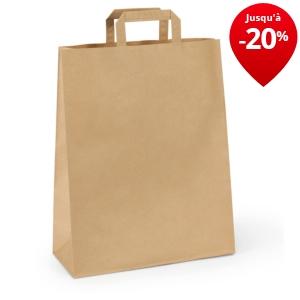 sac kraft blanc poign es plates emballages rajapack. Black Bedroom Furniture Sets. Home Design Ideas