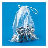 Sacchetti in plastica con chiusura a cordoncino