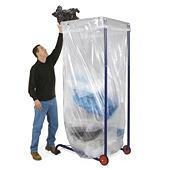 Portasacco mobile per rifiuti grande volume