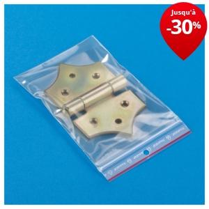 sachet plastique fermeture zip 100 microns emballage rajapack. Black Bedroom Furniture Sets. Home Design Ideas