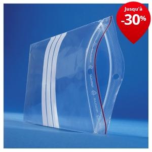 sachet plastique zip bandes blanches 60 microns rajagrip super sacherie conditionnement raja. Black Bedroom Furniture Sets. Home Design Ideas