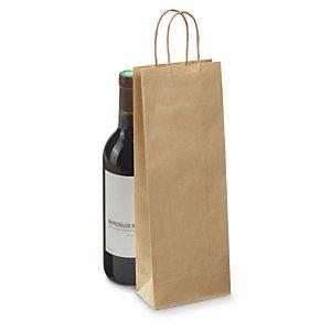 sac kraft pour bouteille couleur avec poign es torsad es emballages boutiques raja. Black Bedroom Furniture Sets. Home Design Ideas