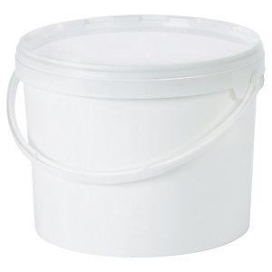 seau plastique blanc opaque avec couvercle jockey sacherie conditionnement raja. Black Bedroom Furniture Sets. Home Design Ideas
