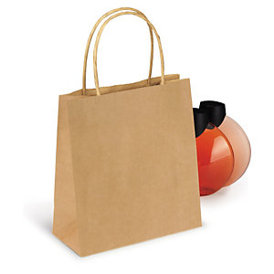 Small brown Kraft paper carrier bags