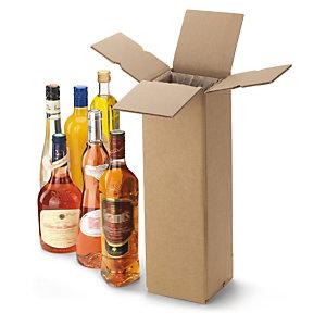 Verzenddoos voor flessen met klemfolie als geïntegreerde bescherming