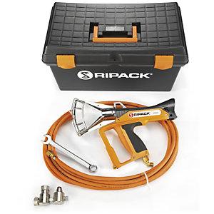 Voordeelpak krimppistool Ripack 3000 en gasfleswagen