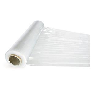 Voordeelpak transparante rekfolie 450 mm breed met kunststof handafroller