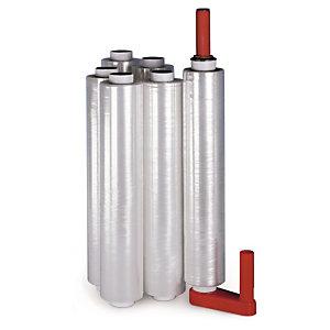 Voordeelpak transparante rekfolie 500 mm breed met kunststof handafroller
