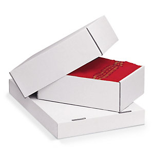 Weisser, verstärkter Stülpdeckelkarton, 1-wellig