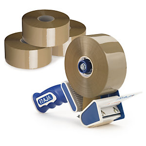 Zestaw taśma samoprzylepna długa Bonus Tape + dyspenser redukujący hałas