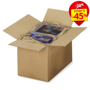 Caisse carton Rajabox brune simple cannelure de 30 à 40 cm