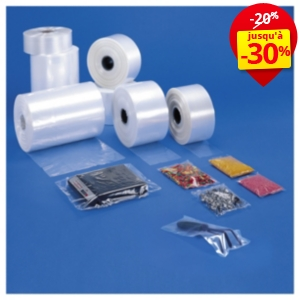 Gaine plastique thermosoudable transparente 50 microns