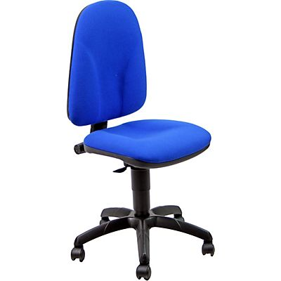 Unisit team silla de oficina tela altura 95 107 cm azul for Silla escritorio oficina