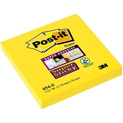 Post-it® Post-it Super Sticky 654-S - notas