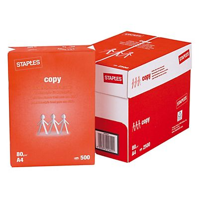 429bc2b40 Staples Copy Papel para Fotocopiadora Blanco A4 80 g m² 500 hojas ...