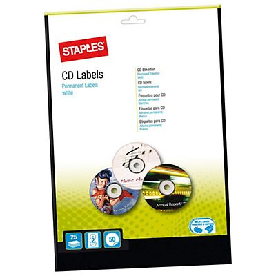 Staples Etiqueta para CD y DVD