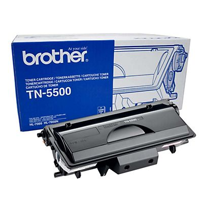 Brother TN-5500, Tóner Original, Negro