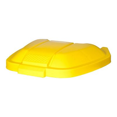 Rubbermaid Commercial Products Tapa para cubo contenedor móvil Rubbermaid amarillo