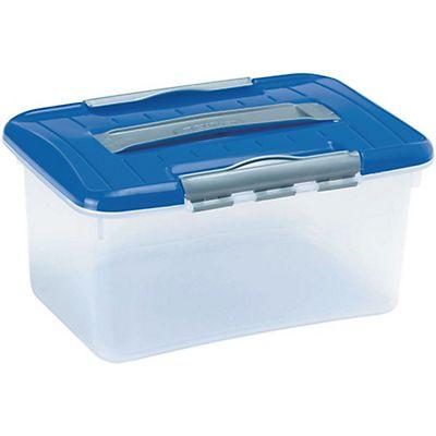 Curver caja de pl stico para almacenaje con tapa azul 5 l - Caja de almacenaje ...