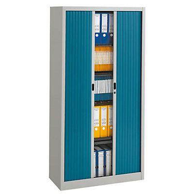 Armario de persiana classtout 90 x 180 cm gris azul - Armarios de 120 cm ...