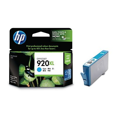 HP 920XL, CD972AE, Cartucho de Tinta, Cian