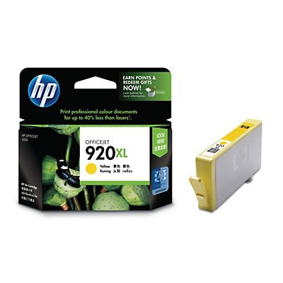 HP 920XL, CD974AE, Cartucho de Tinta, Amarillo
