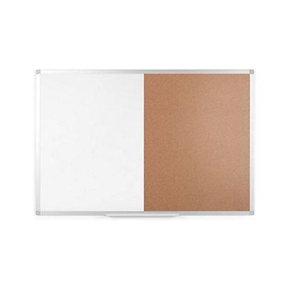 Staples Tablón combinado, Corcho/pizarra blanca, Aluminio anodizado ...