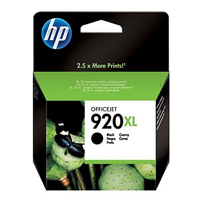 HP 920XL, CD975AE, Cartucho de Tinta, Negro