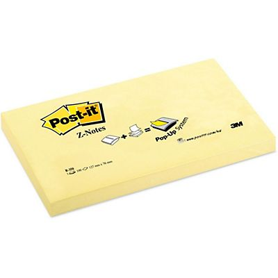 Post-it® R350 Canary Yellow™ Z-Notas Bloques 76 x 127 mm, amarillo canario, 100 hojas
