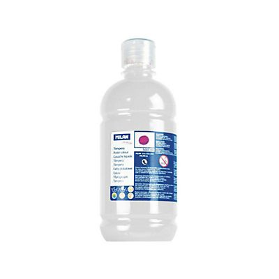 MILAN Témpera escolar botella de 500 ml. blanco