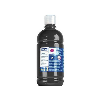 MILAN Témpera escolar botella de 500 ml. negro