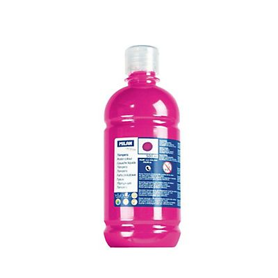 MILAN Témpera escolar botella de 500 ml. magenta