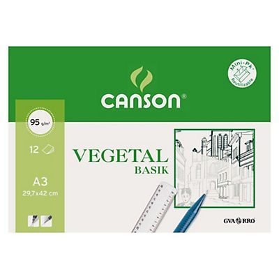 CANSON Papel vegetal - 12 hojas (A3)
