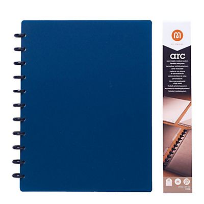 M by Staples Arc Cuaderno personalizable polipropileno Rayado horizontal 60 hojas Color azul Formato A4