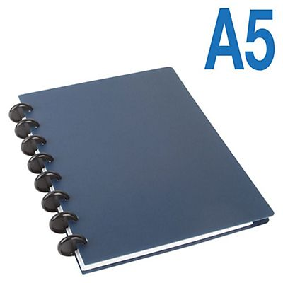 M by Staples Arc Cuaderno personalizable polipropileno Rayado horizontal 60 hojas Color azul Formato A5