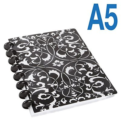 M by Staples Arc Cuaderno personalizable polipropileno Flower Rayado horizontal 60 hojas Formato A5
