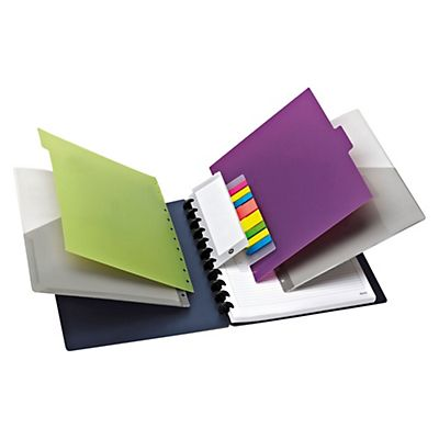M by Staples Arc Cuaderno personalizable Azul + Complementos Rayado horizontal 60 hojas Formato A4