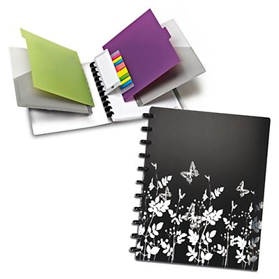 M by Staples Arc Cuaderno personalizable Butterfly + Complementos Rayado horizontal 60 hojas Formato A4