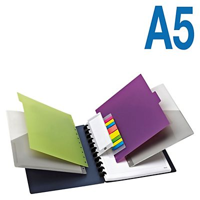 M by Staples Arc Cuaderno personalizable Azul + Complementos Rayado horizontal 60 hojas Formato A5