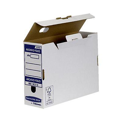 0d64cfd4c Bankers Box Caja Archivo Definitivo Cartón Folio, Automontaje Fastfold,  Tapa fija, Blanco y