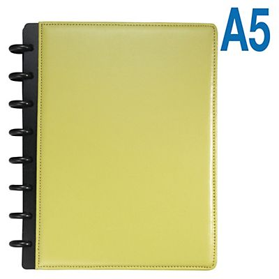 M by Staples Arc Cuaderno personalizable polipiel rayado horizontal 60 hojas color verde formato A5