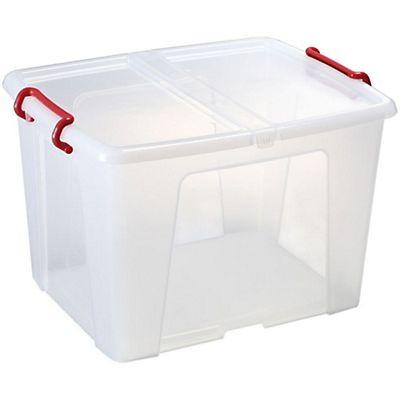 Staples caja de almacenamiento de pl stico con tapa - Caja plastico con tapa ...