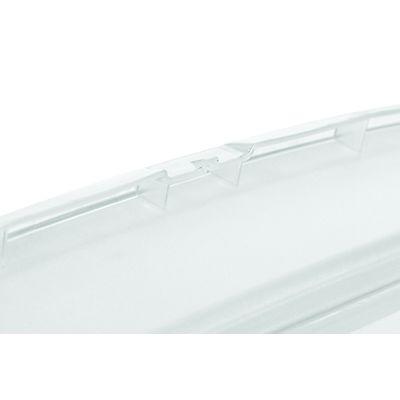 Staples caja de pl stico transparente apilable para for Cajas plasticas con ruedas