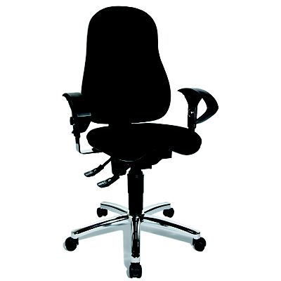 TOPSTAR Sitness 10 Silla de oficina de tejido 100% poliéster, 104 117 cm de altura, negro
